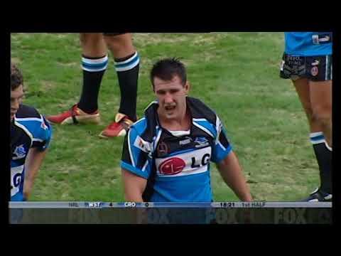 Paul Gallen Vs John Skandalis - Cronulla Sharks Vs Wests  Tigers FIGHT!!!! 2004
