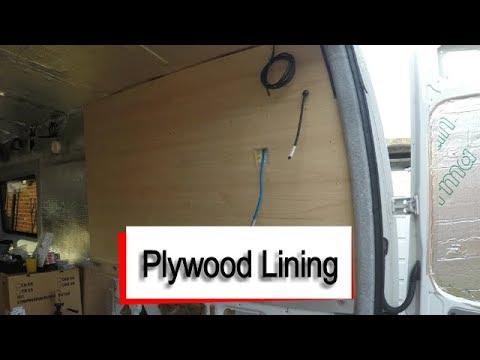 Mercedes Sprinter Camper Van - Plywood Lining