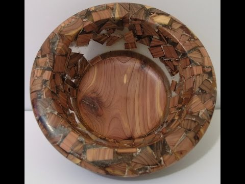 Woodturners Journal:  Acrylic Bowl with Cedar