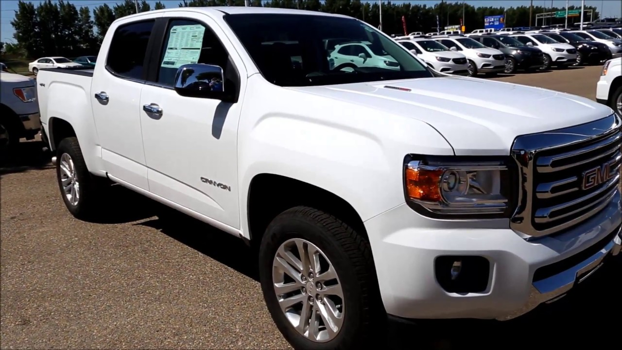 new 2017 summit white gmc canyon slt duramax diesel for sale in medicine hat alberta youtube. Black Bedroom Furniture Sets. Home Design Ideas