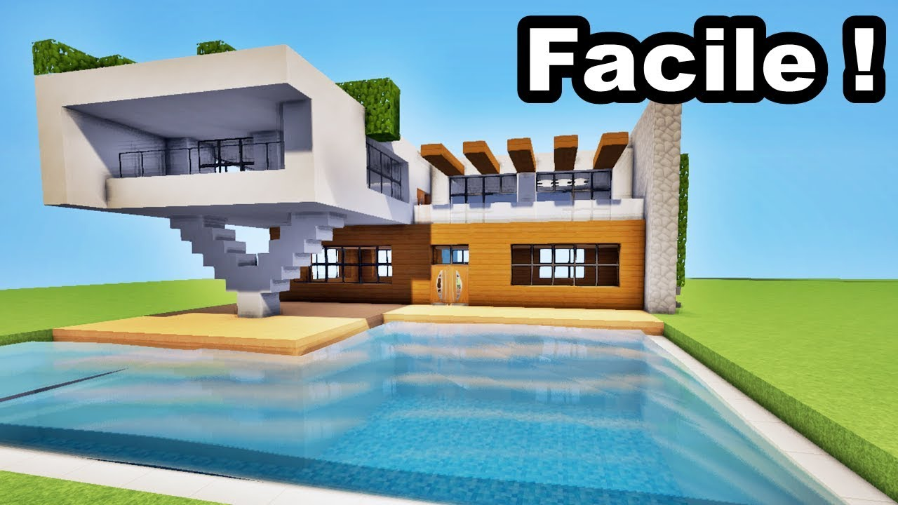Minecraft Tuto Belle Maison Moderne Youtube