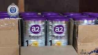 Family charged as '4000 tins of stolen baby formula' are seized