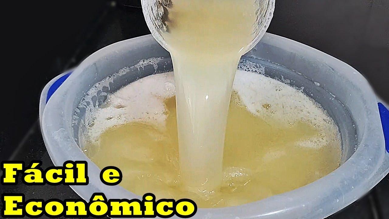 SABÃO LÍQUIDO DE ERVA DOCE - O MAIS FÁCIL E ECONÔMICO