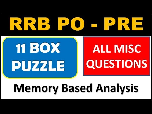 11 BOX Puzzle and Reasoning MISC FULL SOLVED SET