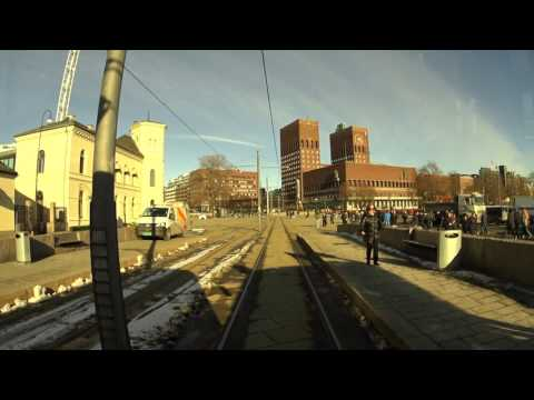 Cabview Line 12 Oslo tramway (sl79 tram) full ride.