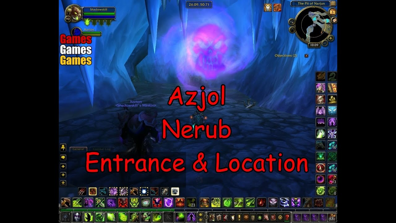 azjol nerub entrance location world of warcraft wrath of the lich king youtube. Black Bedroom Furniture Sets. Home Design Ideas