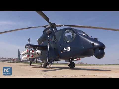 China's armed helicopter Z-19E makes maiden flight
