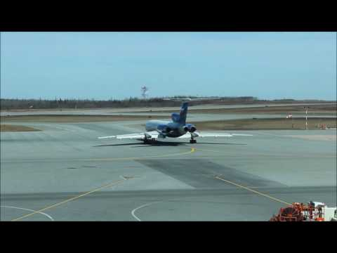 "Russia ""Spy Plane"" in Canada - Tu-154 at Halifax Airport, April 2017"