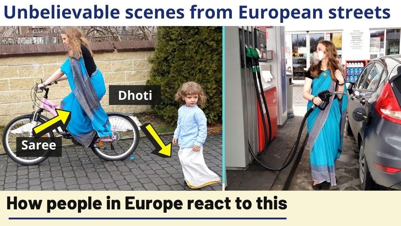 Unbelievable! How people in Europe react to 'saaree' and 'dhoti' | Karolina Goswami