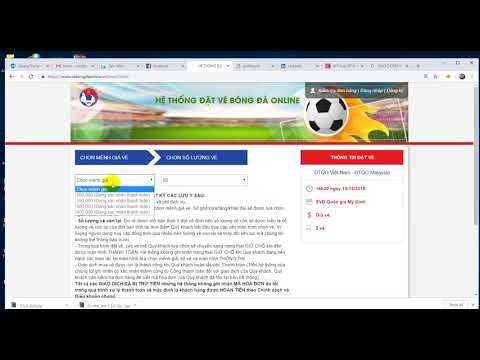 mua vé chung kết aff cup 2018