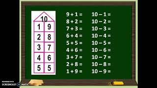 """Урок по математике в 1 классе . Тема """"Число 10.УМК """"Перспектива"""""""
