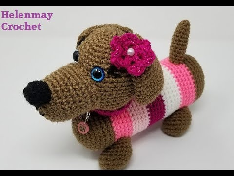 How to Crochet Amigurumi Dog with Free Pattern | Cute crochet ... | 360x480