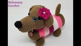 Crochet Cute Amigurumi Dachshund Puppy Dog DIY Video Tutorial