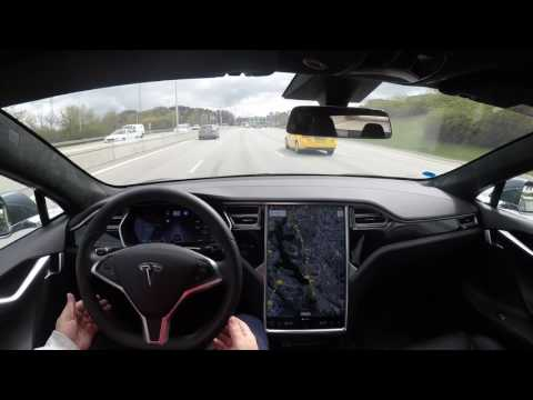Autopilot challenge with Tesla Model S HW2 SW 8.1 FW 17.17.4