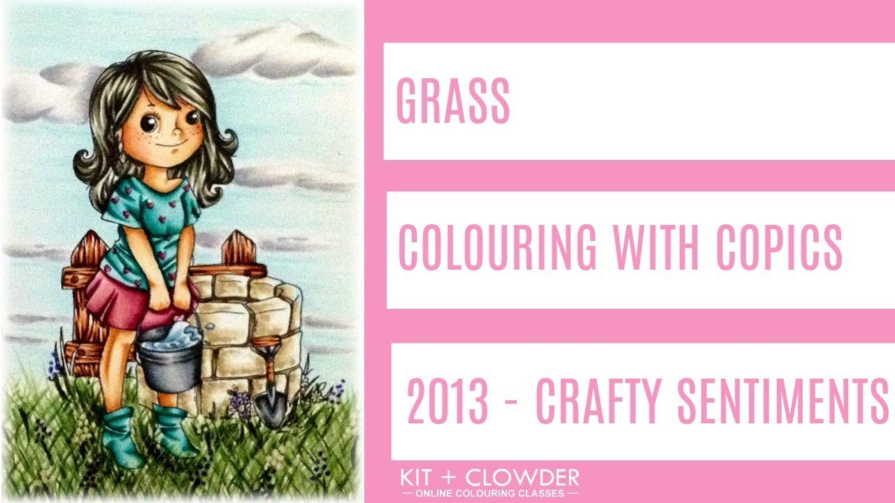 kit and clowder copic tutorial grass youtube