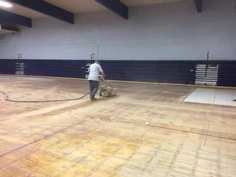 Edco Upcut Saw Removing Wooden Gym Floors Youtube