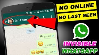 How To Hide Whatsapp Chat , No Online , No Last Seen , Invisible Whatsapp Chat , OnlineTamil Tech