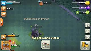 What happens if you remove the old barbarian statue in Builder Base | Clash of Clans