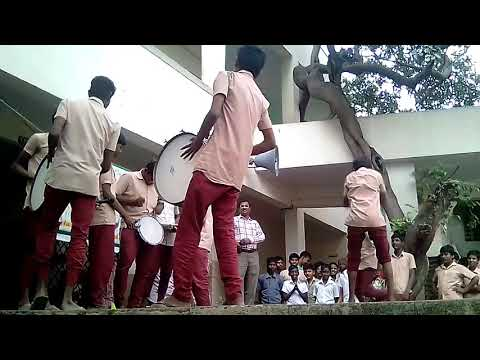 Porur boys school drums  in school