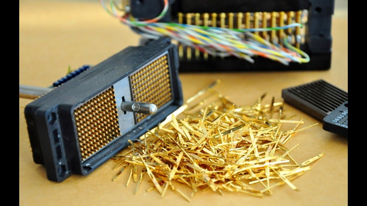 easy gold recovery electronic connectors pins gold plated