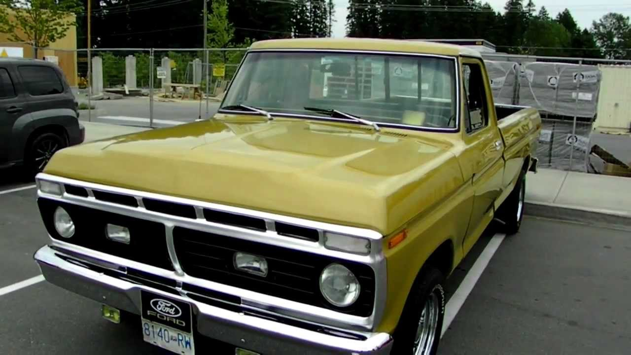 1974 ford pickup truck youtube. Black Bedroom Furniture Sets. Home Design Ideas