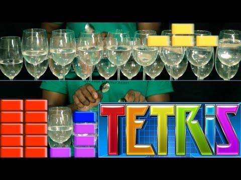 Tetris Theme Song on Wine Glasses (Dan Newbie)