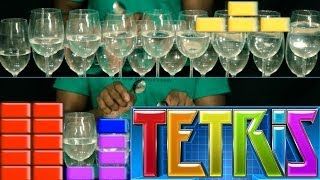 Tetris Theme Song on Wine Glasses (Dan Newbie)