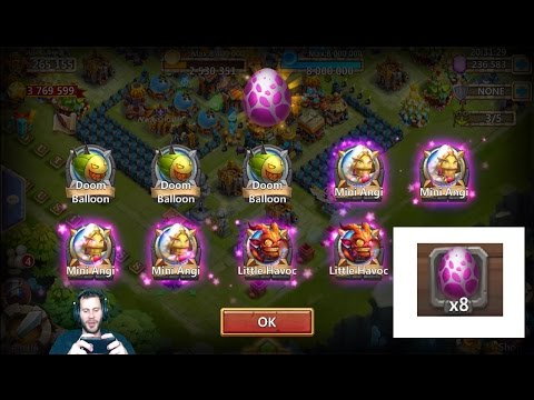 Paying Gems To Hatch PET EGGS For Event + Showing Off PETS Castle Clash