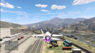 GTA 5: F-16 Fighting Falcon Fighter Jet (P-996 Lazer) Gameplay Review