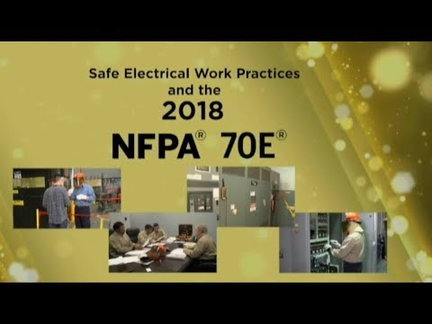 2018 NFPA 70E: Safe Electrical Work Practices - YouTube