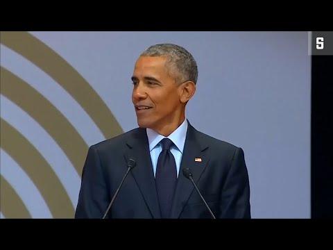 Mandelas 100. Geburtstag: Obama hält Rede, mit Anspielungen auf Trump