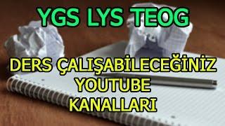 Ücretsiz ders veren youtube kanalları 2017 lys-ygs-teog