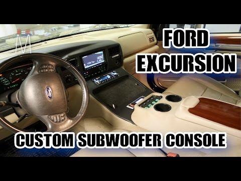 Ford Excursion Center Console Subwoofer Enclosure Build Walkthrough