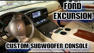 Ford Excursion Center Console Subwoofer Enclosure Build Walkthrough