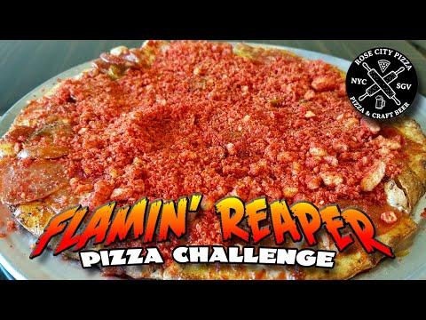 FLAMIN' REAPER PIZZA CHALLENGE *CAROLINA REAPER PIZZA* │ Rose City Pizza