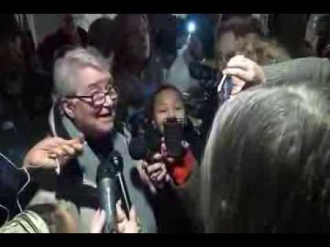 Freed Lynne Stewart Arrives at Airport
