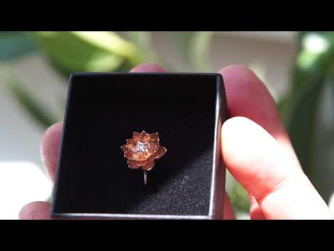 Gold Flower Engagement Ring Rose Gold