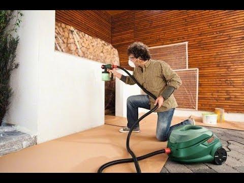 pistolet peinture bosch pfs105e wallpaint comment l 39 utiliser youtube. Black Bedroom Furniture Sets. Home Design Ideas