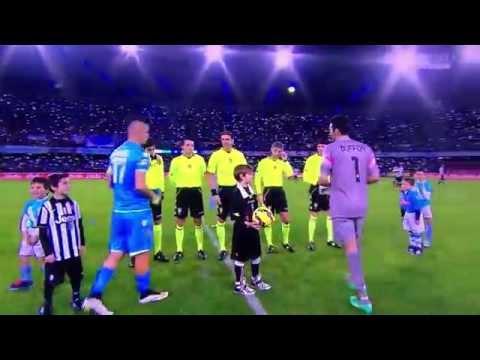 Tributo del San Paolo a Pino Daniele Napoli-Juve