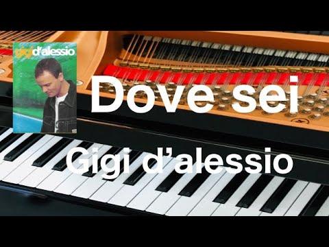 Dove sei        Gigi d`alessio   Arrangimento da pianoforte pf
