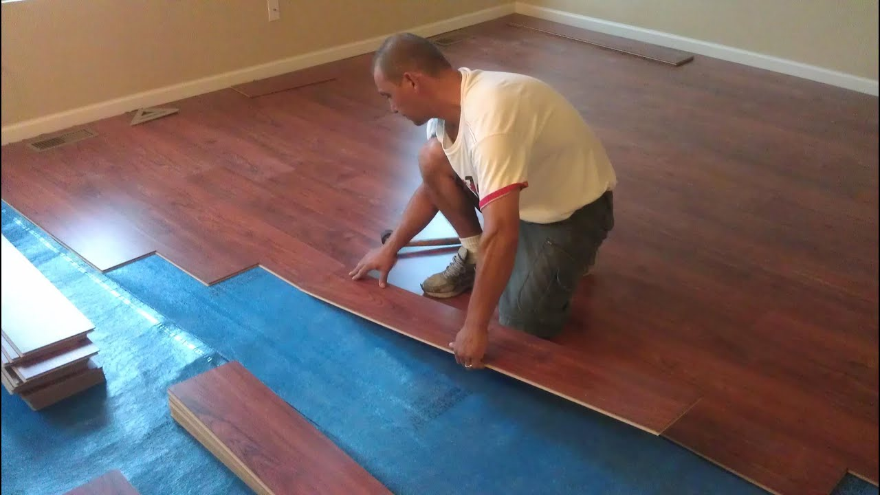 Armstrong Laminate Flooring Installation CC   YouTube