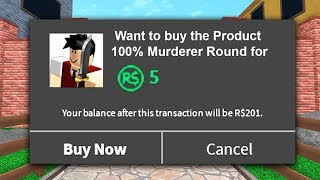 BUYING LUCK in ROBLOX MM2!!