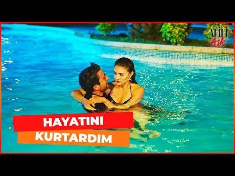 Ayşe, Havuzda Kerem'in Kollarına Sığındı - Afili Aşk 9. Bölüm