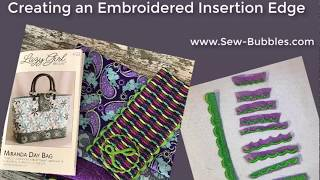 Creating a Scalloped Lace Insertion using Embrilliance StitchArtist