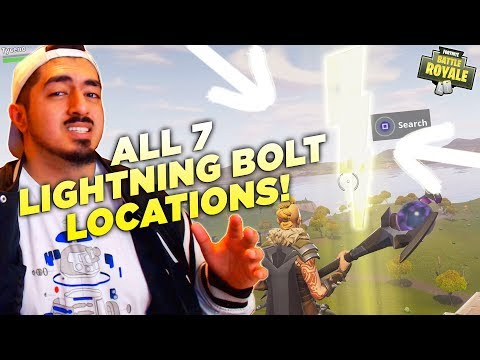 WHERE TO FIND ALL 7 FLOATING LIGHTNING BOLTS in Fortnite Battle Royale! (Season 5 Challenge)