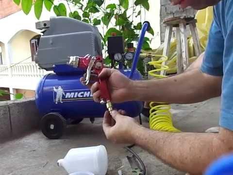 Teste de comportamento da pistola pintura lee tools e - Pistola pintura compresor ...