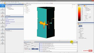 Basic example of forging simulation in QForm  (2D+3D)