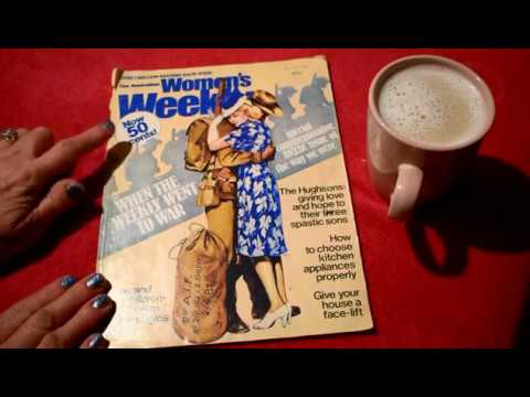 ASMR: Browsing Through Vintage Australian Womans Weekly 1980 || Soft Spoken