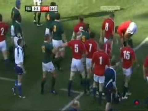 South African Foul Play vs Lions