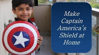 How to Make Captain America's Shield at home (In Hindi) | Paper Mache Craft DIY